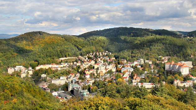 Karlovy Vary a sklárna Moser