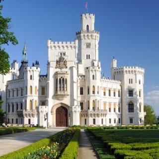 Schloss Hluboká an der Moldau