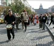 Svatováclavské slavnosti na Václavském náměstí